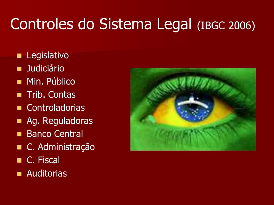 Controles do Sistema Legal (IBGC 2006)