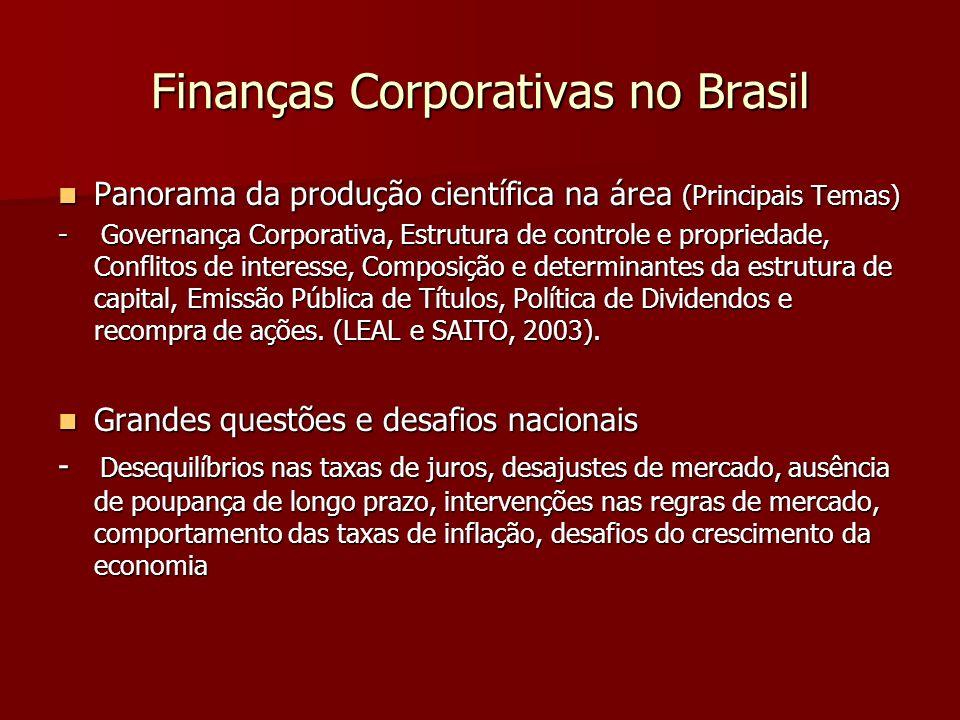 Finanças Corporativas no Brasil