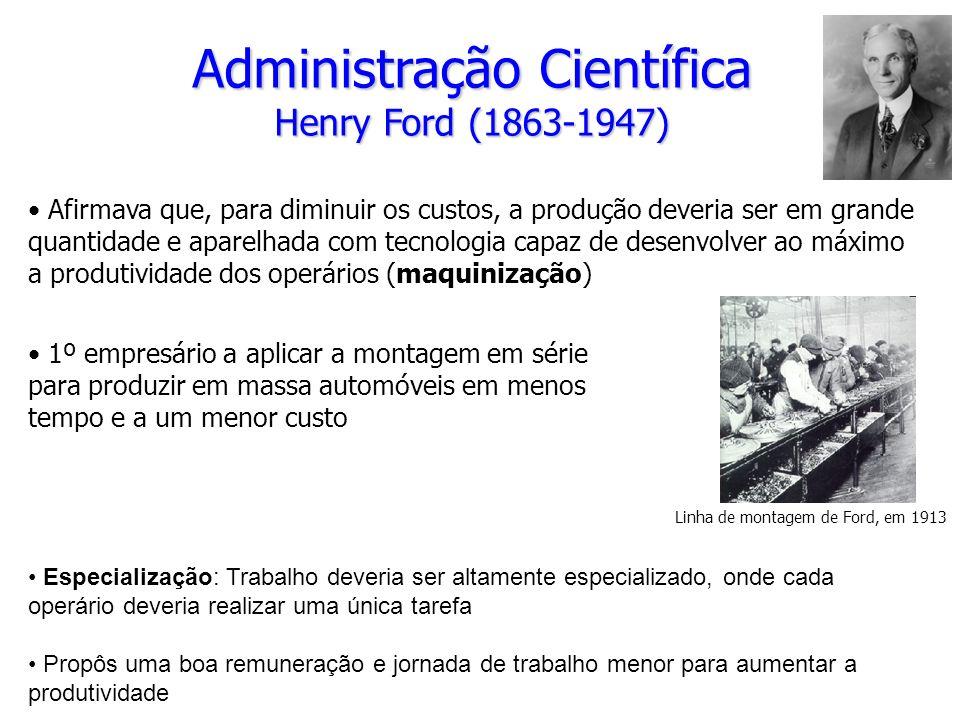 Administração Científica Henry Ford (1863-1947)