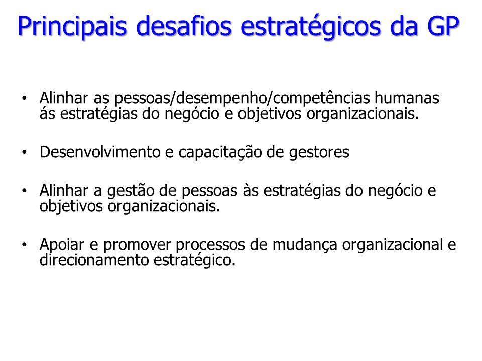 Principais desafios estratégicos da GP