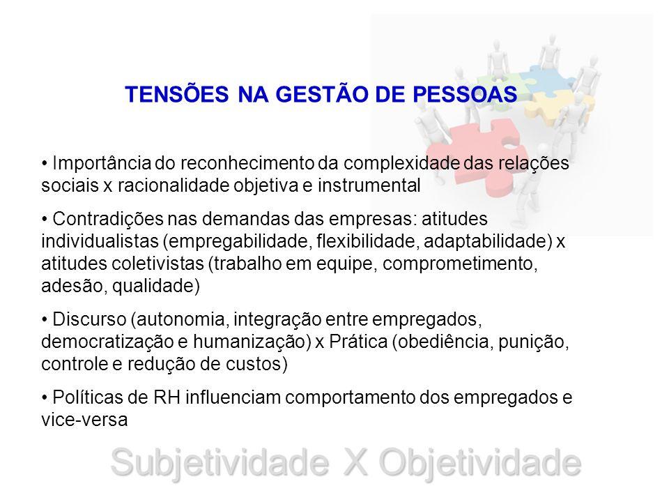 TENSÕES NA GESTÃO DE PESSOAS