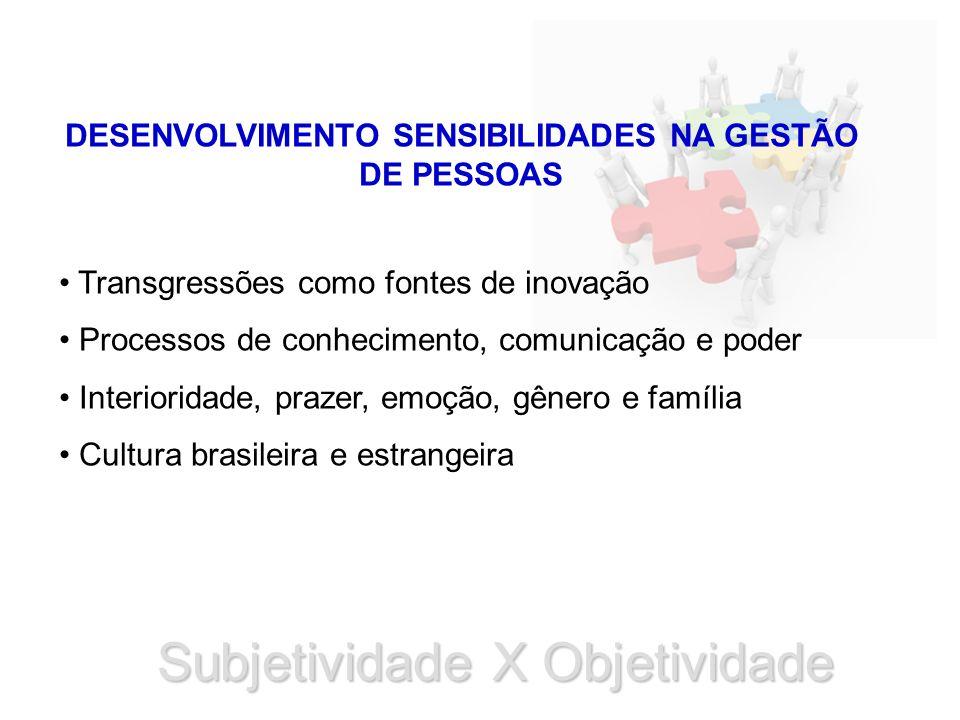 DESENVOLVIMENTO SENSIBILIDADES NA GESTÃO DE PESSOAS