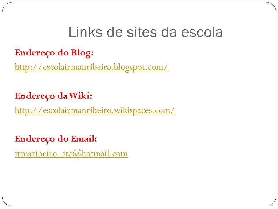 Links de sites da escola
