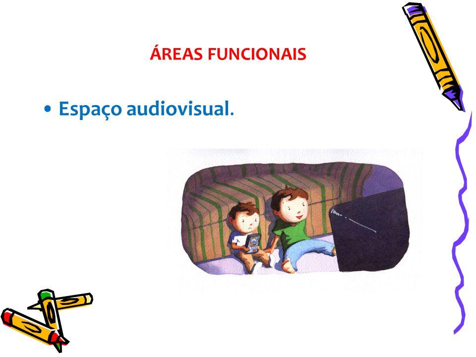 ÁREAS FUNCIONAIS Espaço audiovisual.