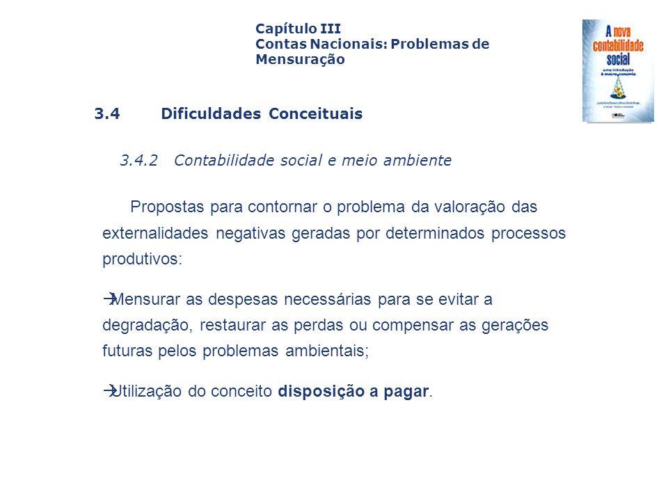 3.4.2 Contabilidade social e meio ambiente