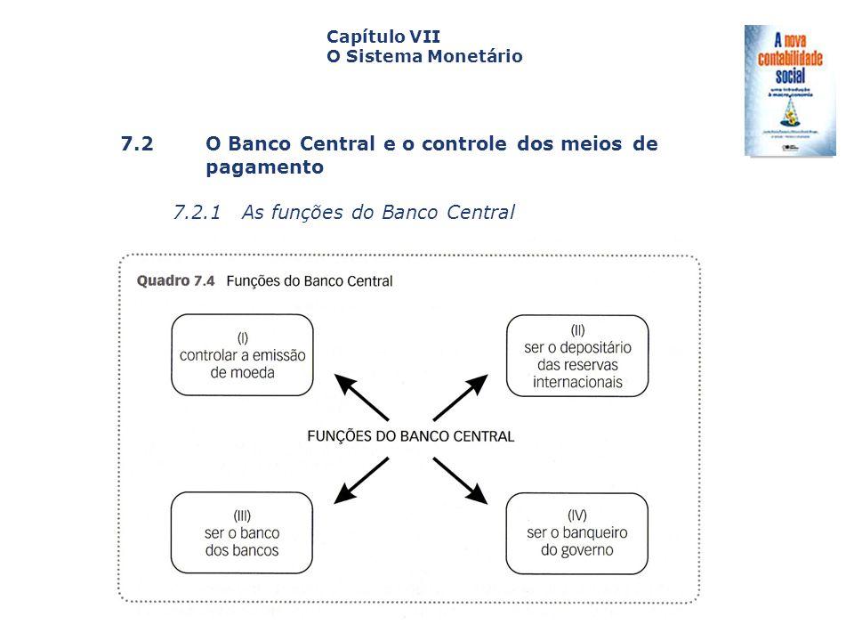 7.2 O Banco Central e o controle dos meios de pagamento