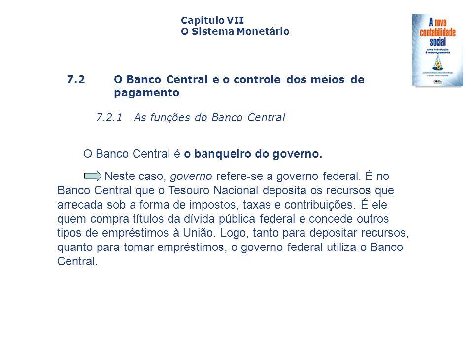 O Banco Central é o banqueiro do governo.