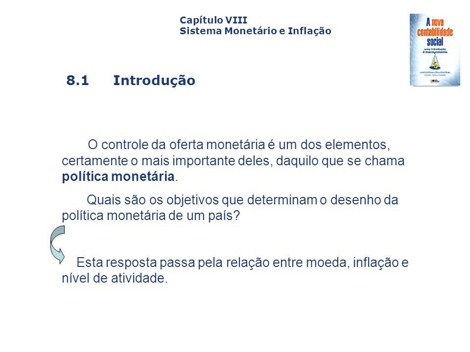 Capítulo VIII Sistema Monetário e Inflação. Capa. da Obra. 8.1 Introdução.