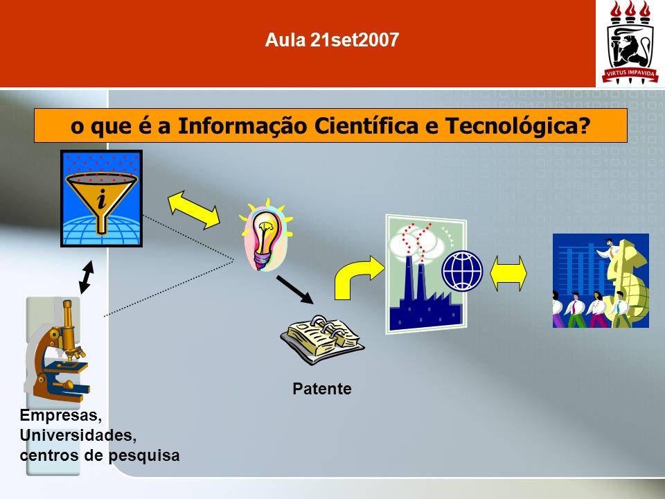 o que é a Informação Científica e Tecnológica