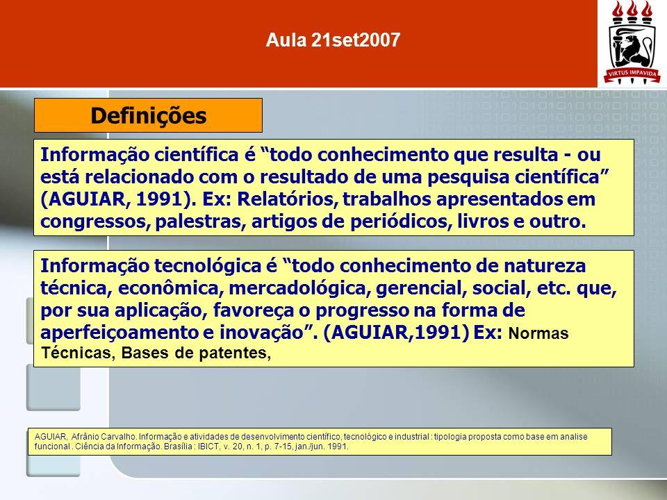 Aula 21set2007 Definições.