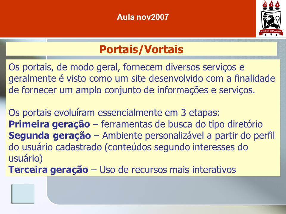 Aula nov2007 Portais/Vortais.