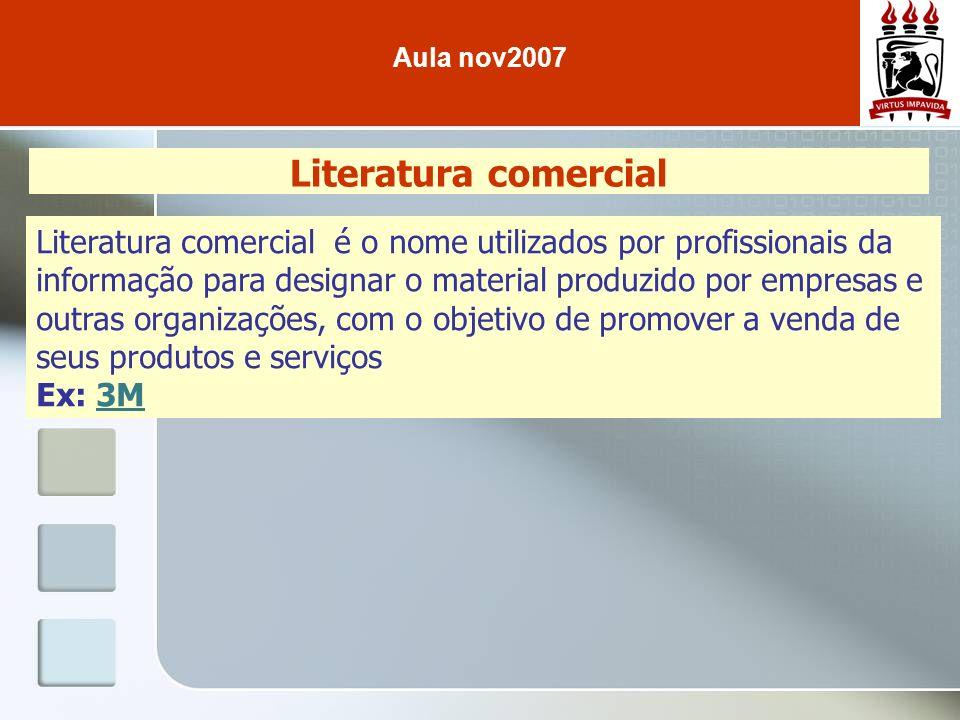Aula nov2007 Literatura comercial.