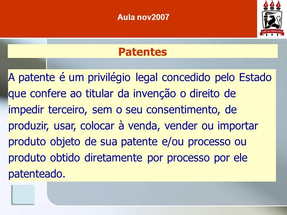 Aula nov2007 Patentes.
