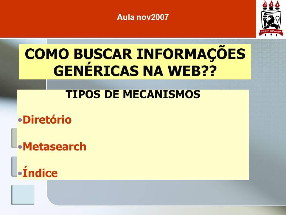 COMO BUSCAR INFORMAÇÕES GENÉRICAS NA WEB