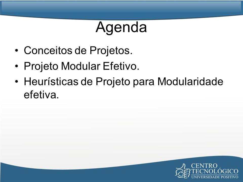 Agenda Conceitos de Projetos. Projeto Modular Efetivo.