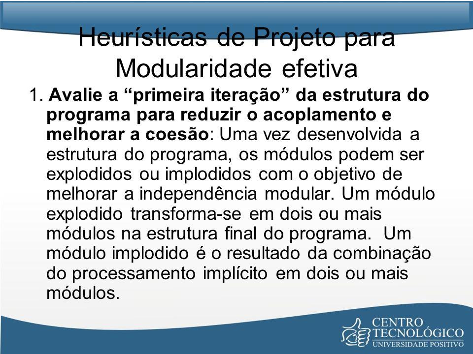 Heurísticas de Projeto para Modularidade efetiva