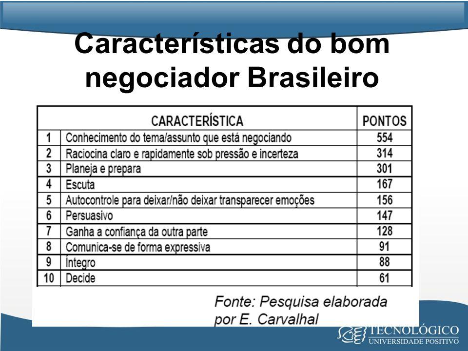 Características do bom negociador Brasileiro