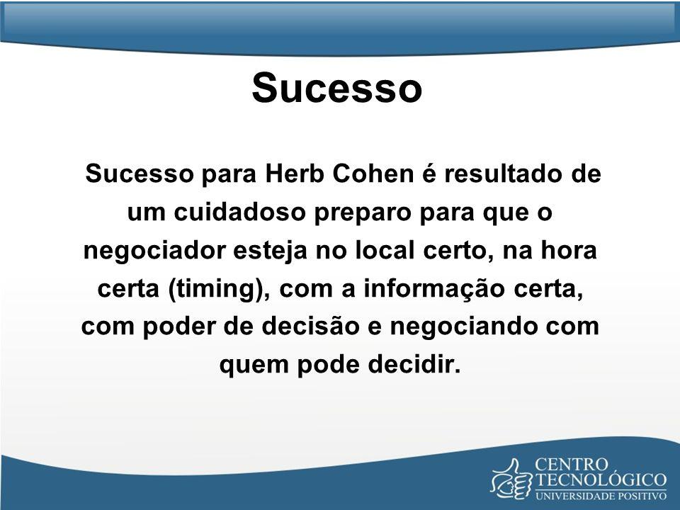 Sucesso Sucesso para Herb Cohen é resultado de