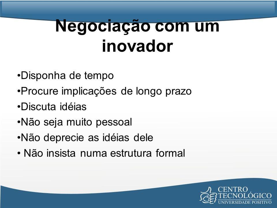 Negociação com um inovador