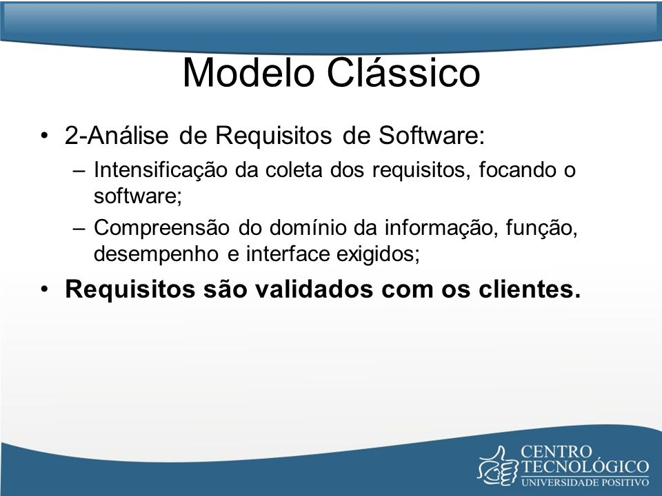 Modelo Clássico 2-Análise de Requisitos de Software: