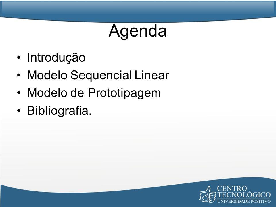 Agenda Introdução Modelo Sequencial Linear Modelo de Prototipagem