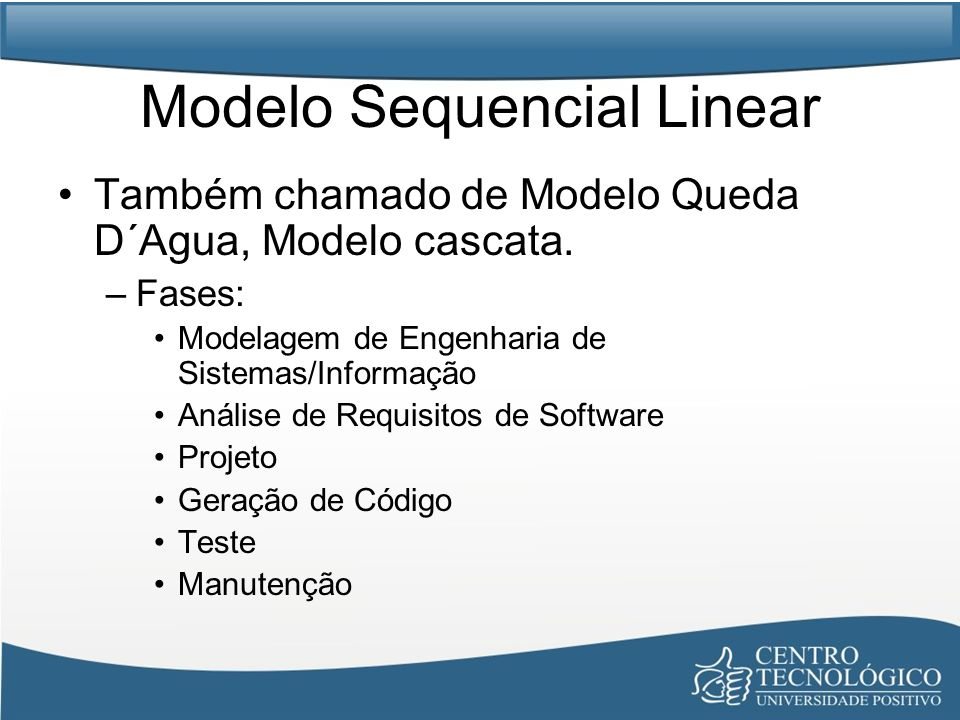Modelo Sequencial Linear