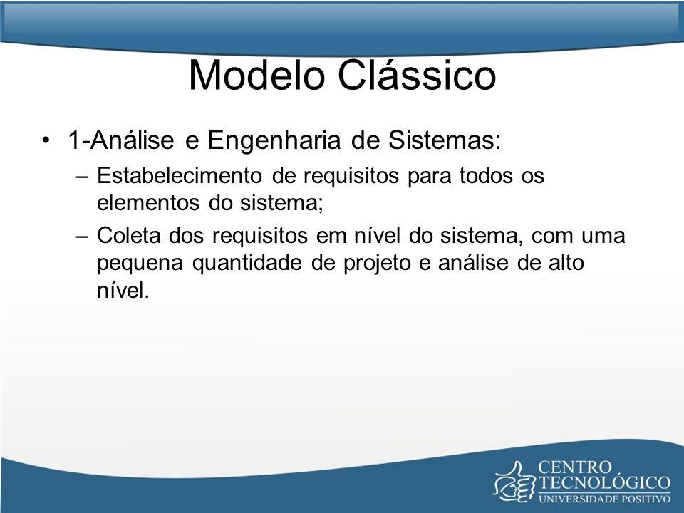 Modelo Clássico 1-Análise e Engenharia de Sistemas: