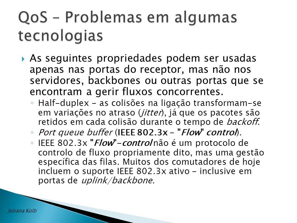 QoS – Problemas em algumas tecnologias