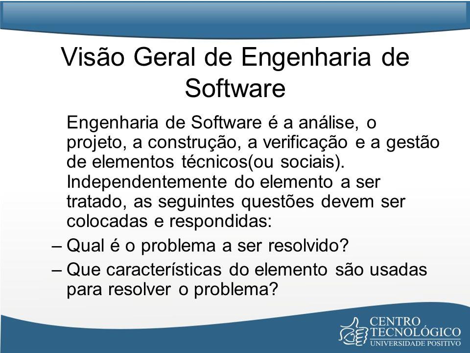 Visão Geral de Engenharia de Software