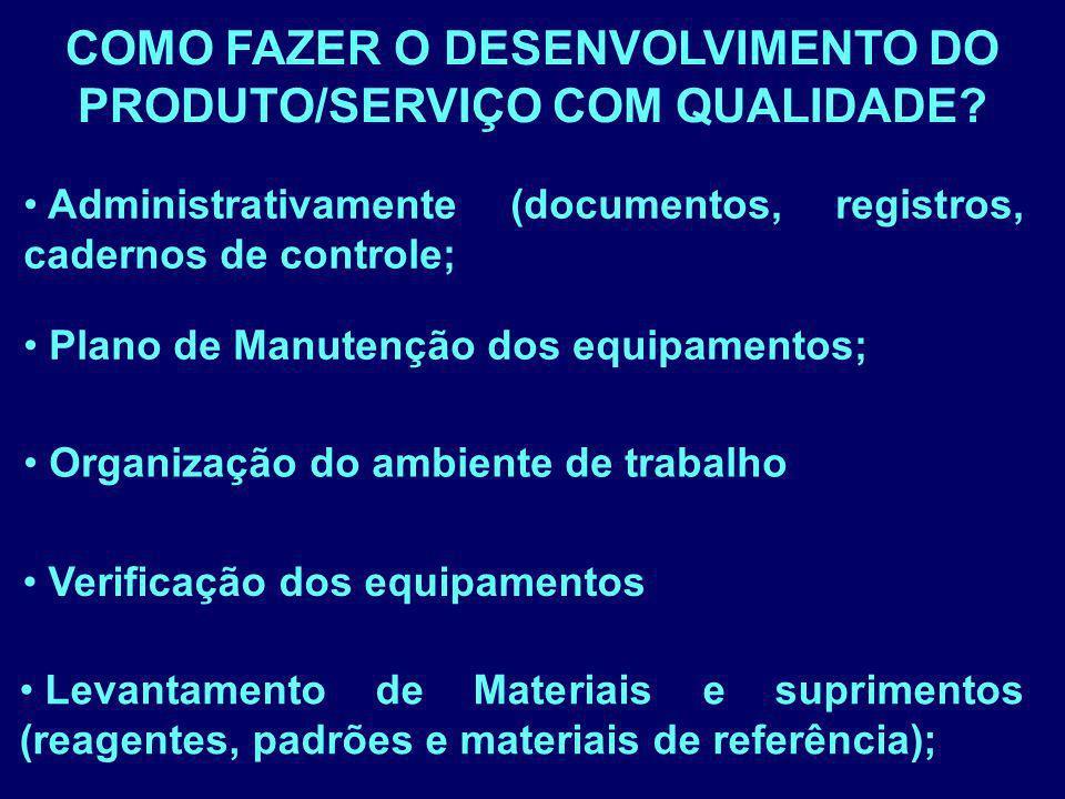 COMO FAZER O DESENVOLVIMENTO DO PRODUTO/SERVIÇO COM QUALIDADE