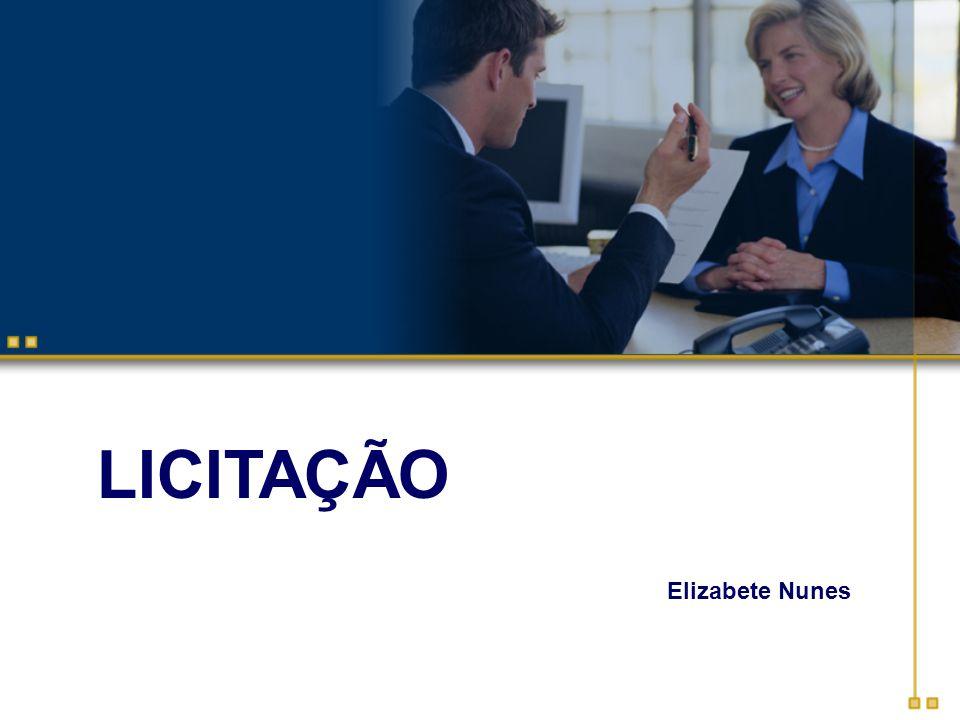 LICITAÇÃO Elizabete Nunes