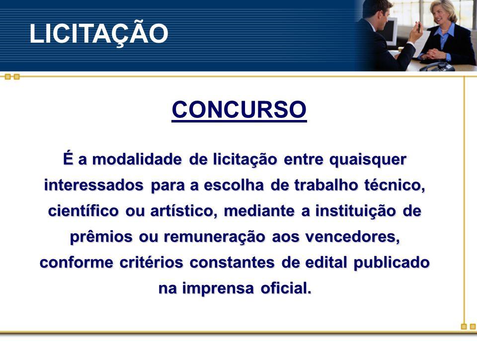 LICITAÇÃO CONCURSO.