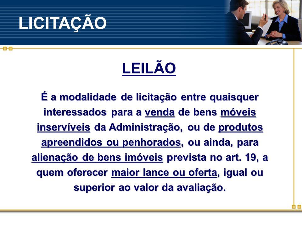 LICITAÇÃO LEILÃO.
