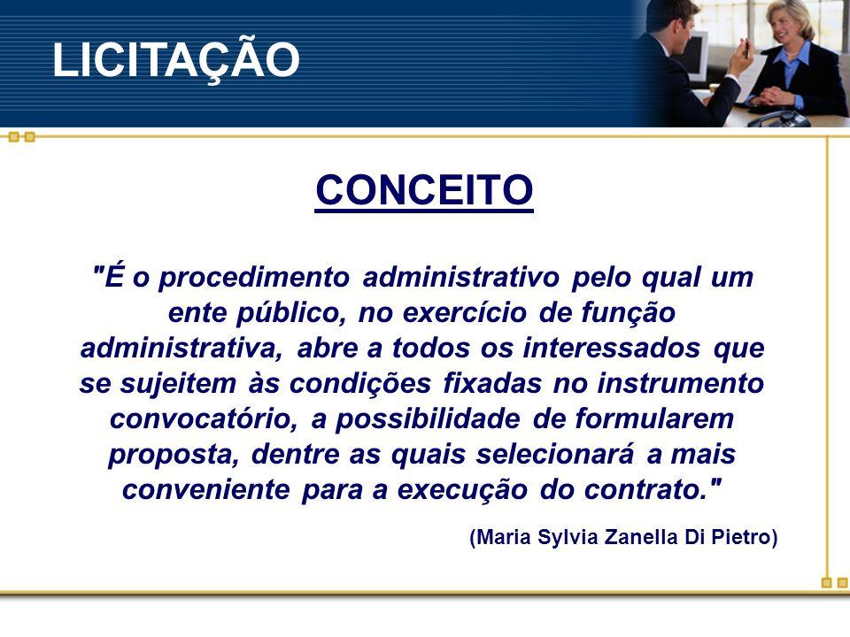 LICITAÇÃO CONCEITO.