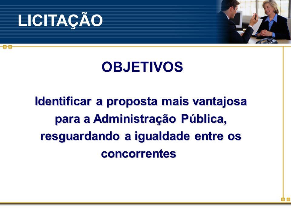 LICITAÇÃO OBJETIVOS.