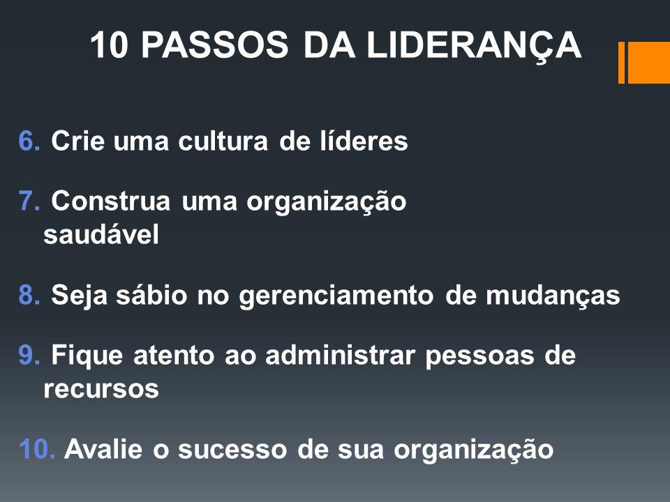 10 PASSOS DA LIDERANÇA Crie uma cultura de líderes