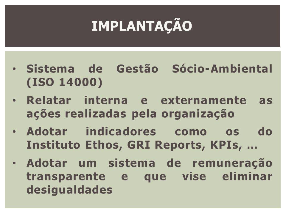 IMPLANTAÇÃO Sistema de Gestão Sócio-Ambiental (ISO 14000)