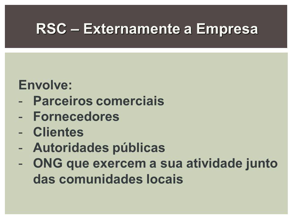 RSC – Externamente a Empresa