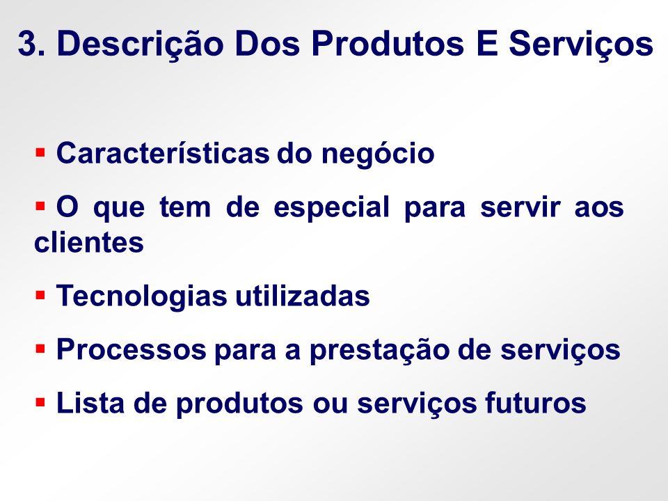 3. Descrição Dos Produtos E Serviços