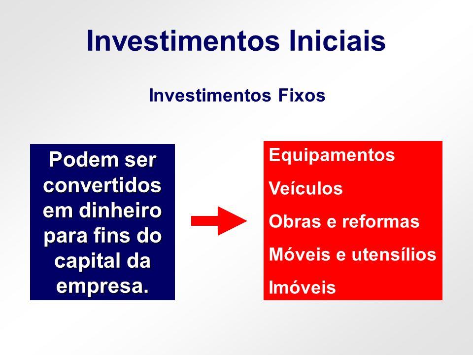 Investimentos Iniciais