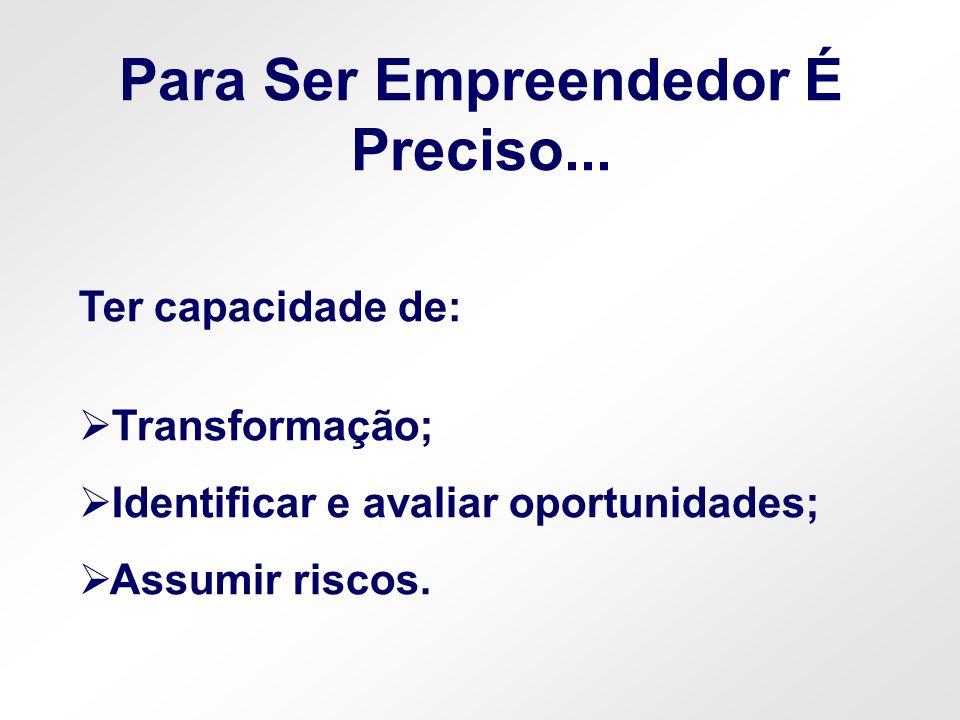 Para Ser Empreendedor É Preciso...