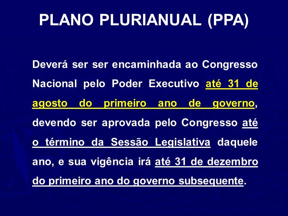 PLANO PLURIANUAL (PPA)