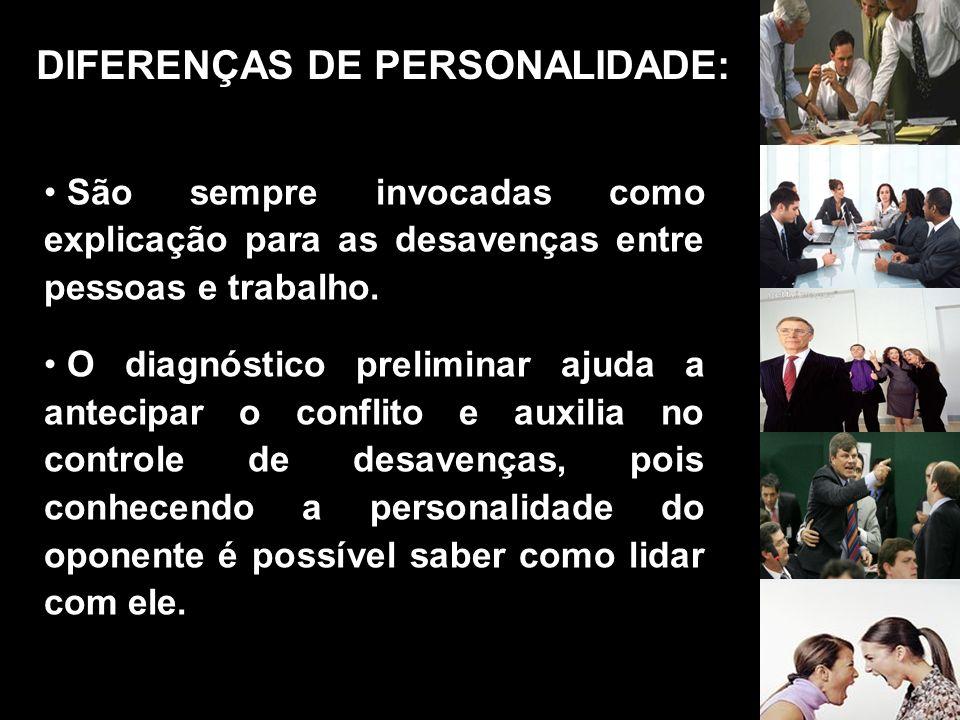 DIFERENÇAS DE PERSONALIDADE: