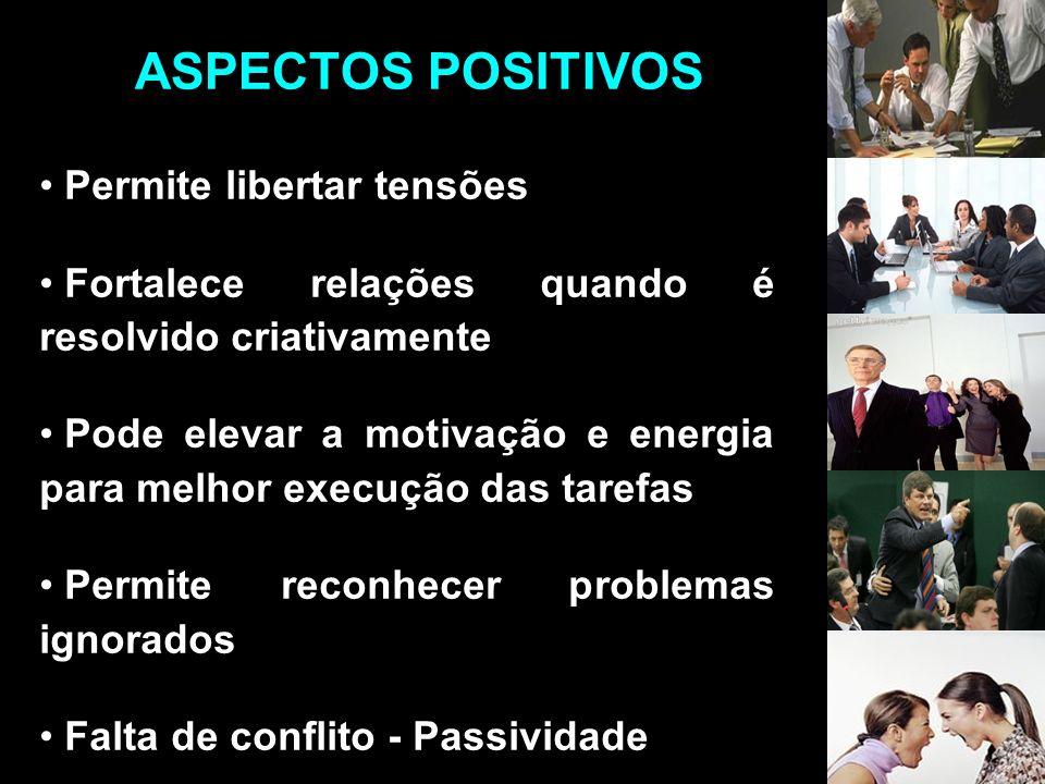 ASPECTOS POSITIVOS Permite libertar tensões