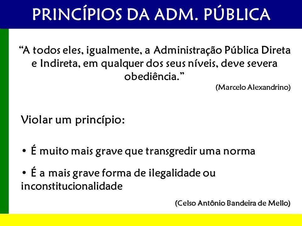 PRINCÍPIOS DA ADM. PÚBLICA