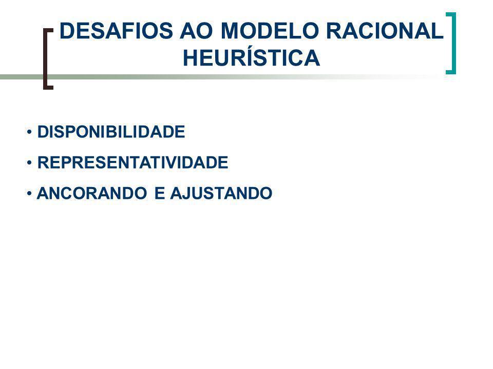 DESAFIOS AO MODELO RACIONAL HEURÍSTICA