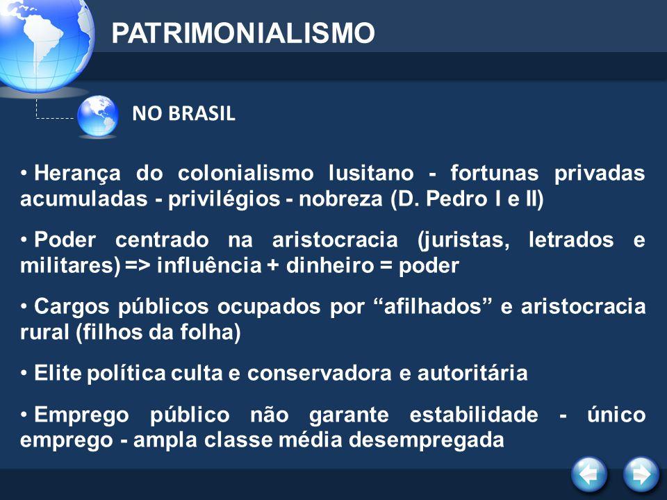 PATRIMONIALISMO NO BRASIL