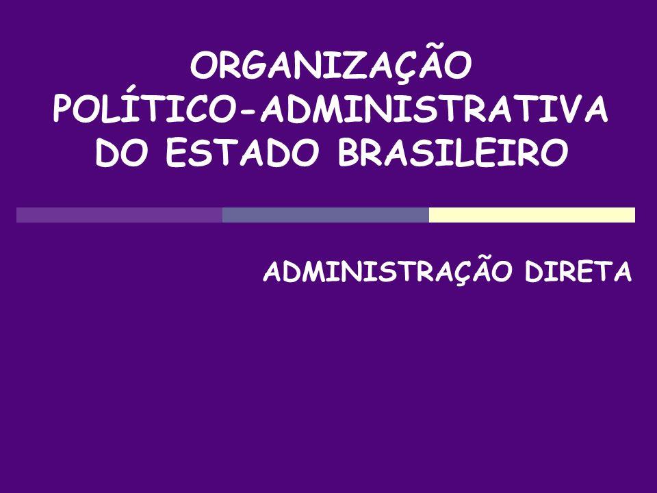 POLÍTICO-ADMINISTRATIVA DO ESTADO BRASILEIRO