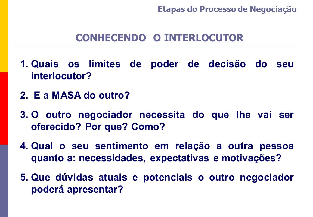 CONHECENDO O INTERLOCUTOR