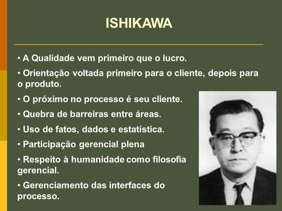 ISHIKAWA A Qualidade vem primeiro que o lucro.